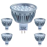 5er Pack LEDANDO LED MR16 / LED GU5.3 Strahler - 5Watt LED Leuchtmittel (35W Ersatz) LED Lampe MR16 / LED Lampe GU5.3 - Energieeffizienzklasse A+ - 330 lm - warmweiß - 60° Abstrahlwinkel - 380cd – 12
