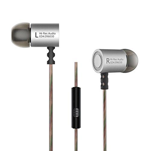 Fulltime® Ursprüngliche KZ-ED4 Subwoofer In-Ohr Kopfhörer Aktive Leistungs TPE-Kabel Ohrhörer für iPhone / Samsung / LG / HTC-Smartphones / Media Players (mit Mikrofon)