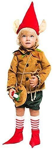Fancy Me Italienische Herstellung Deluxe Baby &ältere Jungen mittelalterlich Pixie Elfe Halloween Kostüm Kleid Outfit 0-6 Jahre - Braun, 1 year