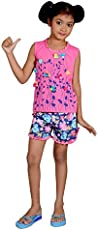 DREAMZ NIGHTWEAR- Comfort Nightwear- Pure Cotton, Breathable,Light Weight & Stretchable Top and Shorts Set for Girls.