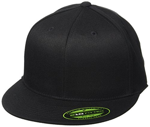 Flexfit, Cappello Unisex adulto Premium 210 Fitted, Nero (Black), L/XL