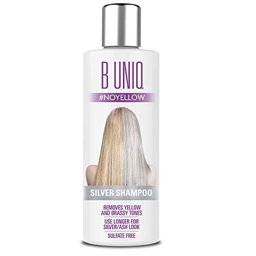 Silbershampoo für blonde, blondierte, gesträhnte & graue Haare - Violett-Pigmente gegen Gelbstich - revitalisierend & sulfatfrei - 250 ml
