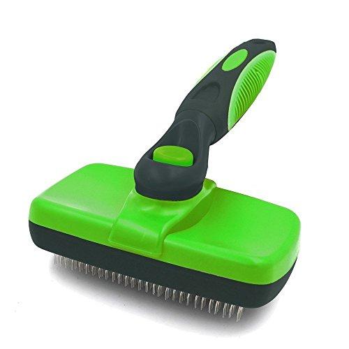 Pet Bürste für Hunde und Katzen, PET Zupfbürste selbst Reinigung, geeignet für lange oder kurze Haare (Drucken Retriever)