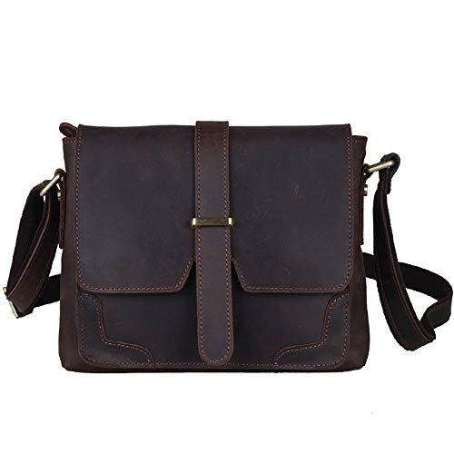 Herren Messenger Bag Office tragbare Handtasche Retro-Stil Leder Aktentasche 10 'Notebook Schulter Messenger Bag Handtasche Mehrzweck-Tasche für Schule und Arbeit (Handtasche Schulter-stil Tasche)