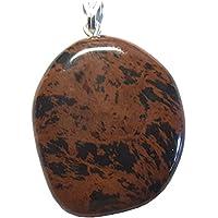 KRIO® - schöner großer Mahagoni Obsidian Anhänger mit Silberöse preisvergleich bei billige-tabletten.eu