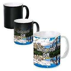 Idea Regalo - Tazza Personalizzata Mug in Ceramica - Nera Lucida Magica Termosensibile (Senza Scatola), Singola - 1 Tazza