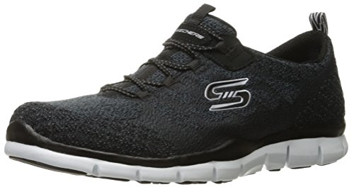 Skechers Sport Gratis Hit It Big Fashion Sneaker Black/White Knit