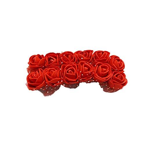 144 TEILE/SATZ Künstliche Schaum Rose Kopf Blumen Spitze Hochzeit Brautpartei Bouquet Tisch DIY Handwerk Kranz Girlande Hause Hochzeit - Kopf-tisch-mittelstücke