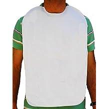 Baberos adulto, en rizo 100%algodón plastificado. Blanco. (40x60cm)