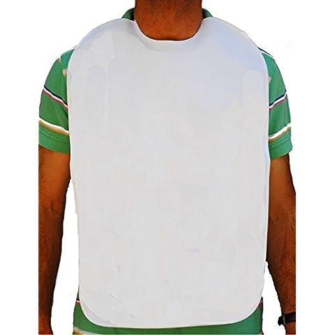 Baberos adulto, en rizo 100%algodón plastificado. Blanco. (50x70cm)