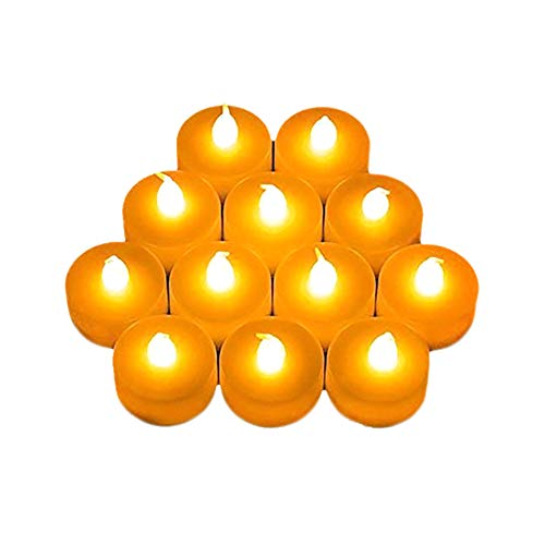 leisial 12flamless Kerzen realistisch und hell flackernde betrieben flammenlose LED Tee Licht (Warm Weiß), weiß, Onw Size
