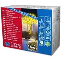 Konstsmide 3610-100 Micro LED Lichterkette / für Außen (IP44) /  24V Außentrafo / 40 gelbe Dioden / schwarzes Kabel