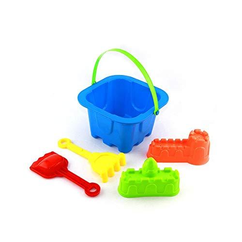 (Sommer Strand Spielzeug Sand Spielzeug Set enthält Eimer, Sand Schaufel, Sand Pressen Formen für Kinder Kleinkinder Jungen Mädchen, Packung mit 5)
