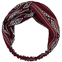 gootu ouou profesional National Wind Mujer couture-discount banda Hoop Vino Rojo