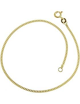 Panzerkette Armband, Goldkette Armband 1,2mm - Länge 17-22cm, echt 333er Gold…