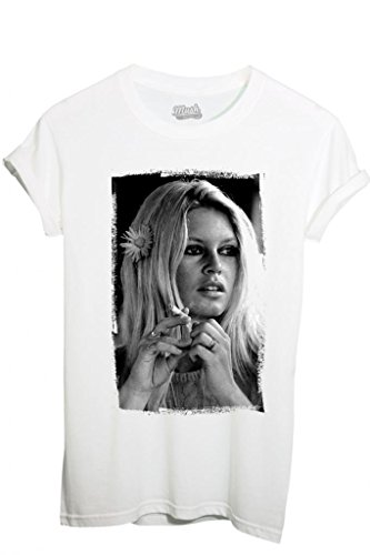 T-Shirt BRIGITTE BARDOT - FAMOSI by iMage Dress Your Style - Uomo-XXL-BIANCA