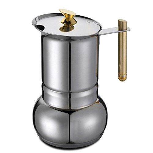 GAT Amore a 4, 6 tazze, da fornello Caffettiera per Espresso Italiano-Pentola a induzione
