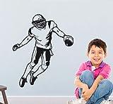 Amérique Football Joueur Amovible Sticker Mural Vinnyl Art Maison Décoration...