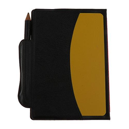 MagiDeal Fussball Schiedsrichter Brieftasche mit Roter Karte, Gelber Karte und Bleistift