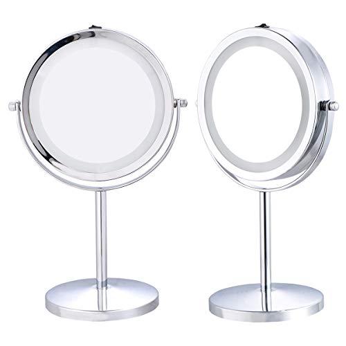Blitzzauber 24 Kosmetikspiegel Schminkspiegel Schminkspiegel Make-Up Spiegel LED Beleuchtet mit 5X...
