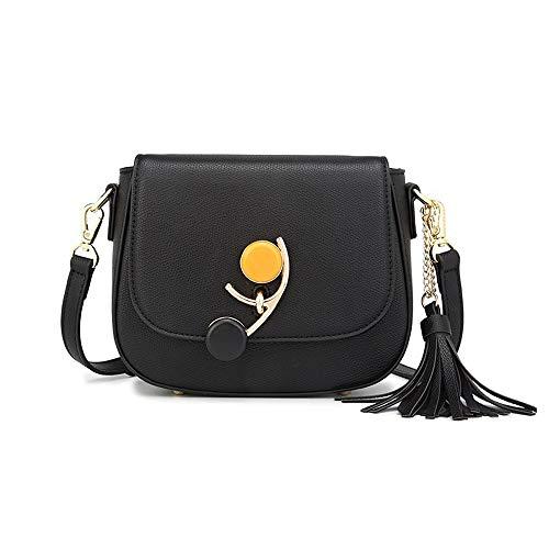 LBYMYB Satteltasche Mode Wild Trend Su Einzelne Schulter Umhängetasche, 19.5x6.5x16.5cm Handtasche (Color : Black) -