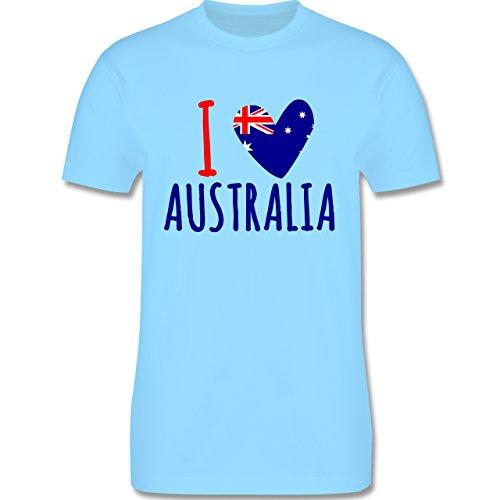 I love - I love Australia - Herren Premium T-Shirt Hellblau