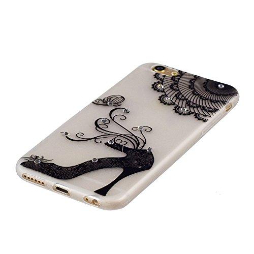 iPhone 6/6S Coque, Voguecase TPU noctilucent protecteur avec Absorption de Choc, Etui Silicone Souple Transparent, Légère / Ajustement Parfait Coque Shell Housse Cover pour Apple iPhone 6/6S 4.7 (talo talons hauts noirs 01