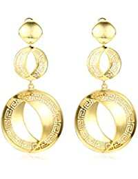 Yellow Chimes Premium Range By Yellow Chimes Gold Plated Drop Earrings For Women (Golden)(YCFJER-193DSK-GL)