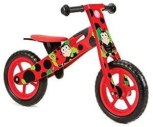 Nicko NIC854 Ladybird Kids - Bicicleta de Equilibrio de Madera para niños