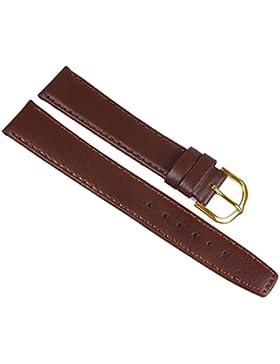 Minott Ersatzband Uhrenarmband Kalbsleder Band XL Braun 23628G, Stegbreite:20mm