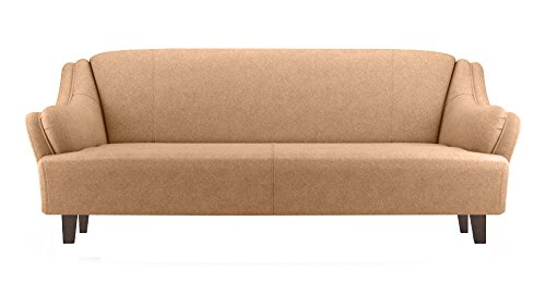 FabHomeDecor Andreas Three Seater Sofa (Beige)