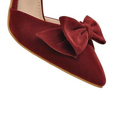 LvYuan Da donna-Sandali-Formale Casual Serata e festa-Altro-A stiletto-Felpato-Nero Rosso Beige Black