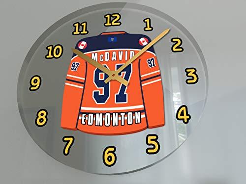 NHL National Hockey League-Western Konferenz-Pacific Division Trikot Wanduhren-Jeder Name, beliebige, jedes Team, kostenlose Personalisierung., Herren, EDMONTON OILERS