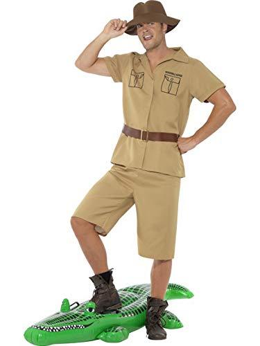 Luxuspiraten - Herren Männer Safari Ranger Kostüm im Dschungel Expedition Stil mit Hemd, Shorts, Gürtel und Hut, perfekt für Karneval, Fasching und Fastnacht, M, - Safari Ranger Kostüm