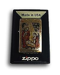 Zippo Custom Lighter - Holy Family in Fuzion - High Polish Chrome