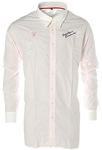 Camicia a maniche lunghe da uomo KITARO Kent-colletto a quadretti Polo Open champion Hip Rosa