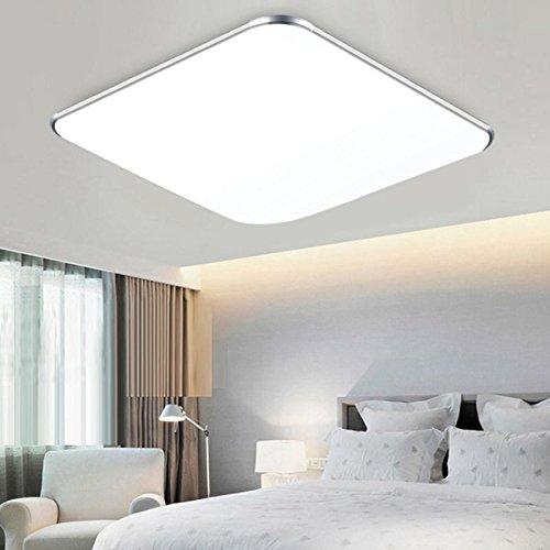 WYBAN LED Deckenleuchte Deckenlampe Wohnzimmer bad Küche Panel Leuchte (12W Kaltweiß)