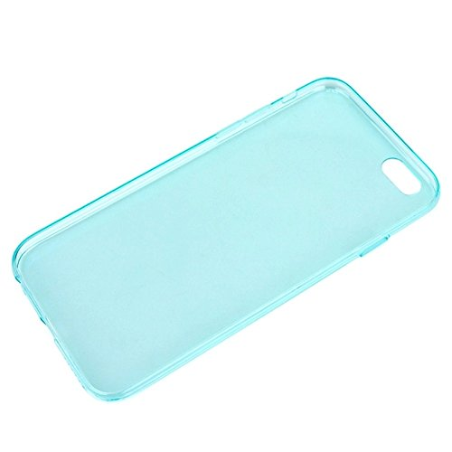 GHC Cases & Covers, 0.45mm Ultra-dünner TPU Fall für iPhone 6 Plus u. 6S Plus ( Color : Transparent ) Green