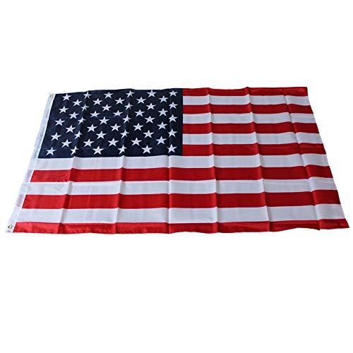 Fliyeong 1 STÜCKE Polyester USA Flagge Amerikanischen Stars u0026 Stripes für Hausgarten Büro Desktop Decor (Stars And Stripes-flagge)