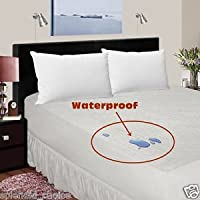 Terry Waterproof Mattress Protector Non crinky Single Extra Deep Anti Allergy Anti Dust Mite Anti Bacterial (36x75x13)