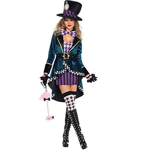 Verrückt Hut Kostüm - CN Halloween-Kostüm Erwachsener Frau Alice Verrückt