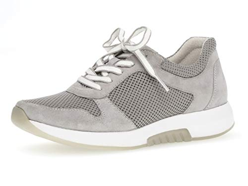 Gabor Damen Low-Top Sneaker 26.946.40, Frauen Halbschuh,Sportschuh,Schnürschuh,atmungsaktiv,Light Grey,39 EU / 6 UK