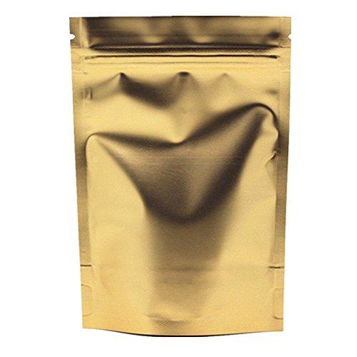 Stehen Mylar Folie Aufbewahrungstaschen Gold Matte Aluminufoil Verpackung Beutel mit Ziplock...