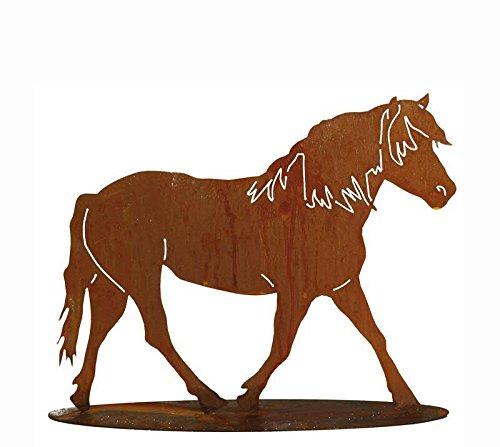 ium Metall Pferd/Mustang/Hengst/Pony - Höhe 60cm / Breite 85cm - Rost Dekoration/Metallfigur/Gartenfigur/Dekopferd/Pferdedeko/Metallpferd ()