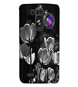 ColourCraft Flowers Design Back Case Cover for LG G3 S