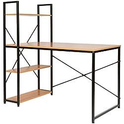 ts-ideen Escritorio de madera para computador mesa de trabajo estante