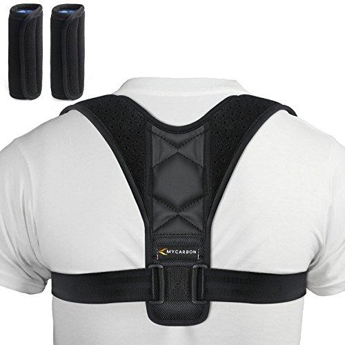 MYCARBON Haltungskorrektur Geradehalter Schulter Rücken Haltungsbandage verstellbare Größe Rückenbandage für Herren und Damen (M: 70-110)
