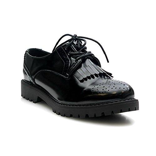 Kayla shoes elegante piccolo paragrafo scarpe basse AB1002-ab992, (AB992-Black), 39 EU