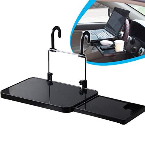 Multifunktion Auto Laptop Klapptisch Tischhalterung Autohalter mit Schublade mit Tablette Positionsrasten Lenkrad Tisch Schreibtisch für Lenkrad Beifahrersitz (Schwarz)