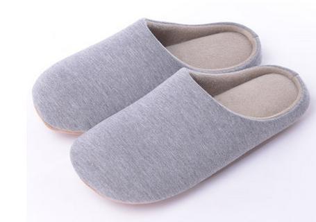 Automne et hiver, chaussons coton épaissie, maison plancher anti - skid Accueil hommes et femmes chaussures d'intérieur men gray